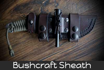 bushcraft leather sheath